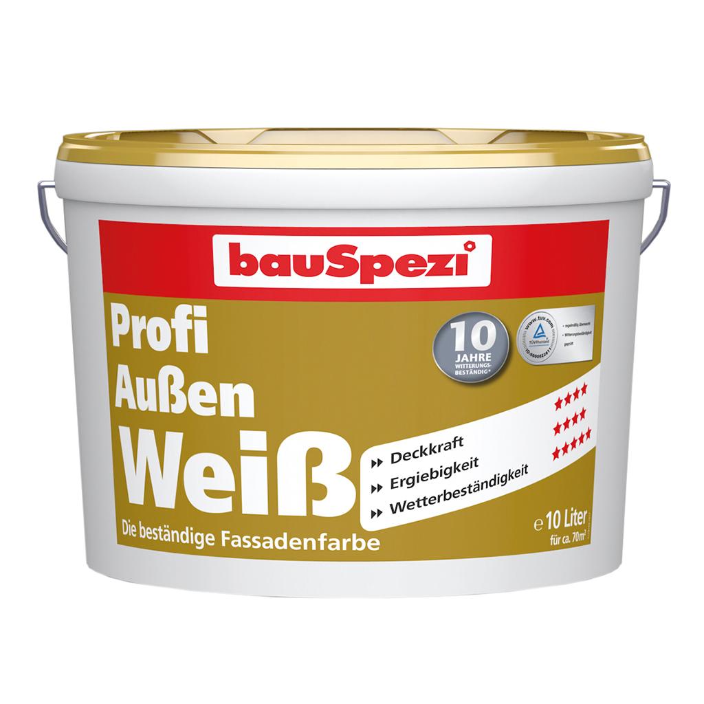bauSpezi Profi Außen Weiß - Fassenfarbe